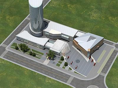 現代商業購物中心模型3d模型