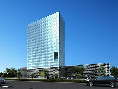現代辦公樓公建模型3d模型
