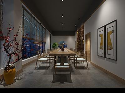 日式餐廳模型3d模型