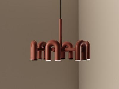 現代藝術小吊燈模型3d模型