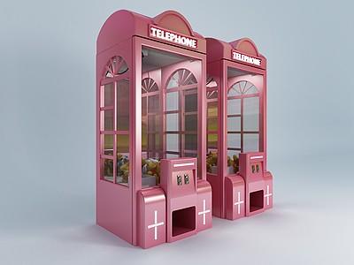 現代娃娃機模型模型3d模型