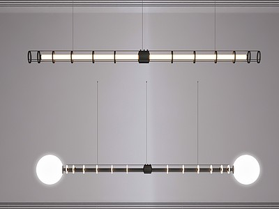 現代吊燈組合模型3d模型