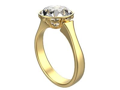 金戒指3d模型