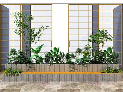 現代景觀植物3d模型