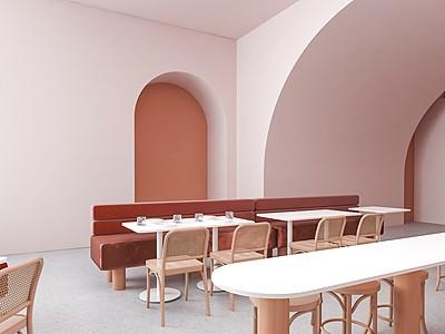 現代咖啡廳3d模型