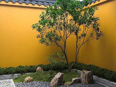 新中式庭院景觀模型