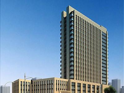 簡歐辦公樓模型