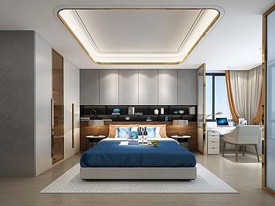 現代臥室模型3d模型