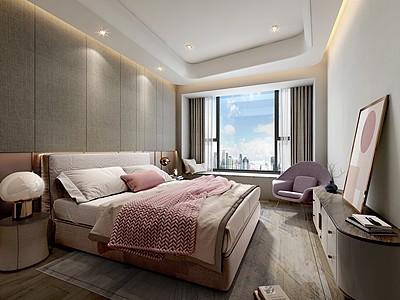 少女風臥室模型3d模型