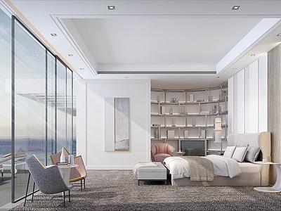海景房臥室模型3d模型