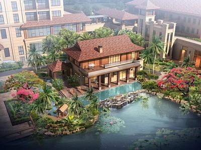 東南亞風格別墅模型3d模型