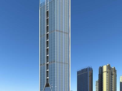 現代商業辦公樓模型3d模型