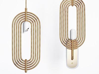 現代金屬壁燈模型3d模型