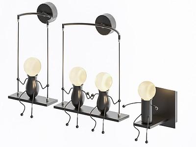 現代動物螞蟻吊燈壁燈模型3d模型