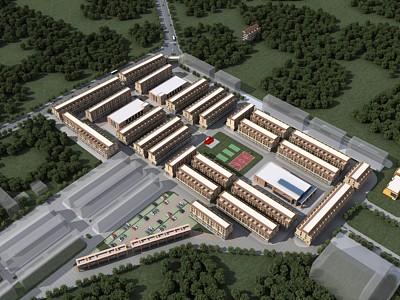 聯排商墅模型3d模型