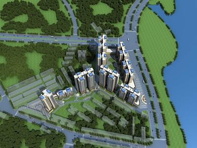 現代商業街模型3d模型
