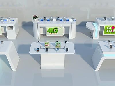 手機柜臺模型3d模型