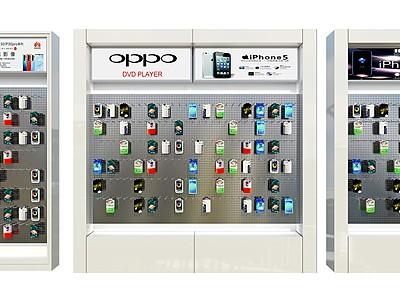 手機配件柜模型3d模型