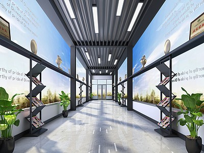 車間走廊模型3d模型