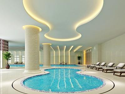 游泳池模型3d模型