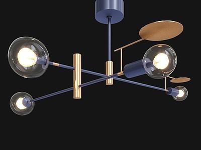 意大利T燈泡吊燈模型3d模型