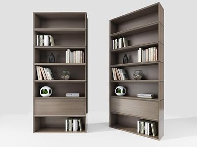 現代書柜模型3d模型