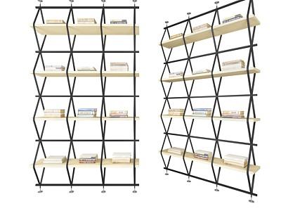 書架三模型3d模型