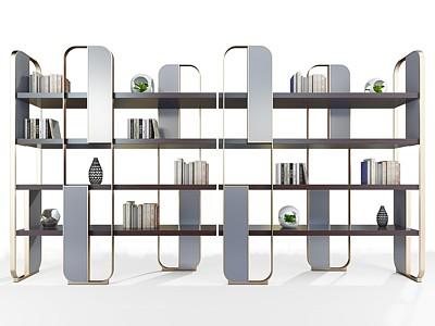 金屬書架模型3d模型