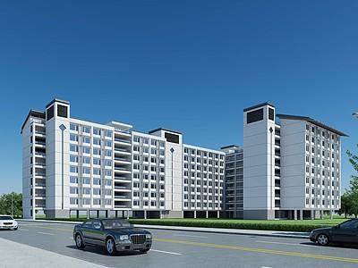 中式宿舍公寓模型3d模型