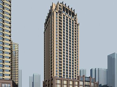 新古典辦公樓酒店模型3d模型