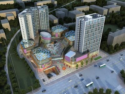 現代商業綜合體公寓辦公樓模型3d模型