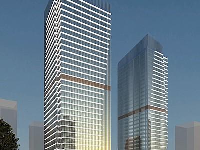 現代辦公樓酒店模型3d模型