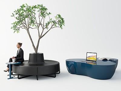 現代室內外休閑桌椅模型3d模型