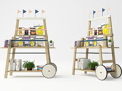 現代書架車模型3d模型