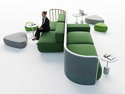 現代休息區模型3d模型