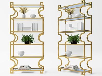 新中式裝飾架模型3d模型
