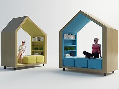 現代休息小房子模型3d模型