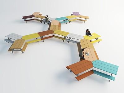 室外休閑桌椅模型3d模型