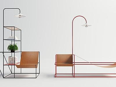 現代休閑躺椅模型3d模型