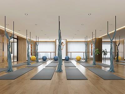 現代瑜伽室模型3d模型