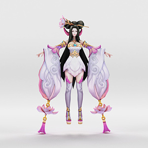 3d王者榮耀2013女游戲角色模型