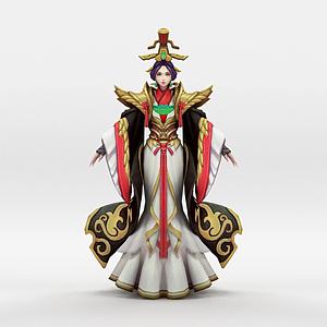 王者荣耀女角色人物模型