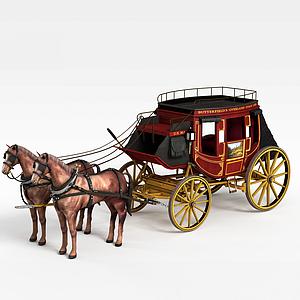 英國馬車模型