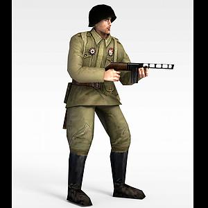 3d军人士兵战士男人模型