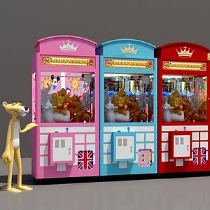 抓娃娃機展廳3d模型