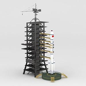 長征2E火箭模型