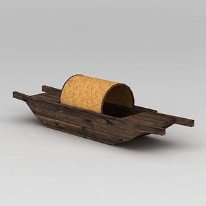 古代漁船模型
