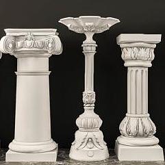 羅馬石膏柱子組合模型