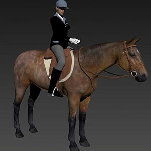 騎馬的女人模型