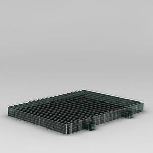 3d玻璃温室模型